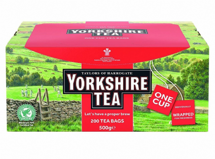 Taylors of Harrogate Yorkshire Tea 200 Individually Wrapped & Tagged Tea Bags